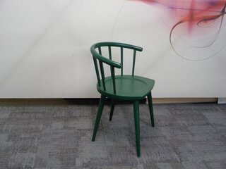 Andy Thornton green W lounge chair
