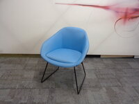 additional images for naughtone always chair in blue
