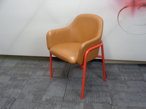additional images for Red and tan chair