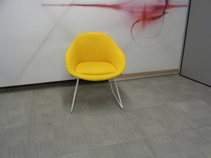 additional images for naughtone always chair in yellow