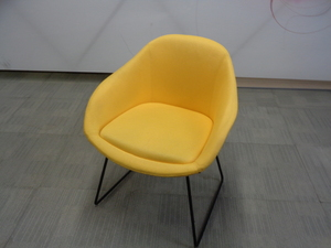 additional images for naughtone always chair yellow with black frame