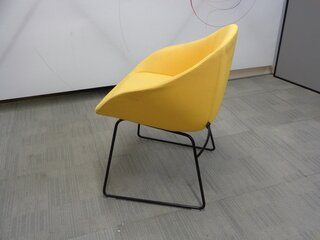 naughtone always chair yellow with black frame