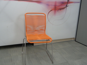 additional images for Orange string and metal chair