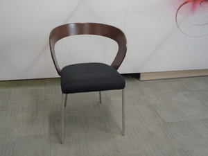 additional images for Brunner walnut and black chair