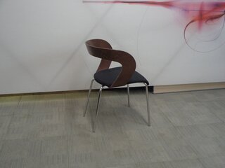 Brunner walnut and black chair