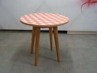 additional images for Gingham and oak circular table