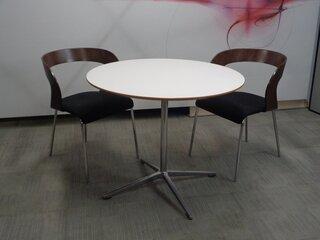 Allermuir circular white top table