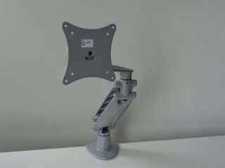 Gas assisted single monitor arm