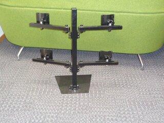 Quad screen monitor mount