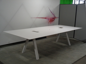 additional images for 3 metre white boardroom table