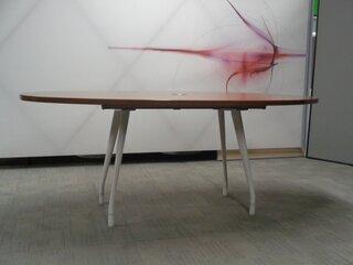 Herman Miller Walnut Oval Boardroom Table