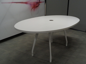 additional images for Herman Miller White Oval Boardroom Table