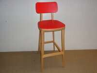 additional images for Connection red retro stool
