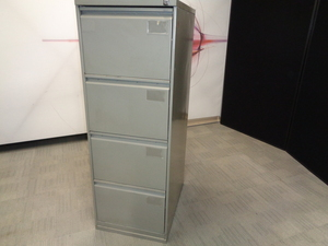 additional images for Grey 4 Drawer Filing Cabinet