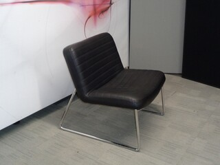 Low black armchair