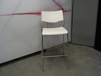 additional images for White and Chrome Bar Stool