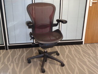 additional images for Herman Miller Aeron with Red Mesh Size B