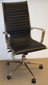 additional images for Black and chrome meeting chair