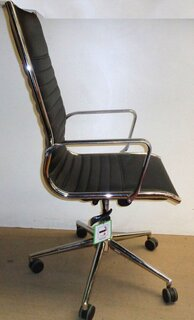 Black and chrome meeting chair