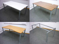 additional images for Silver goalpost leg 1600mm desk frame with choice of top