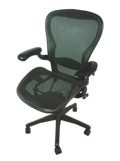 additional images for Herman Miller Aeron with Green mesh