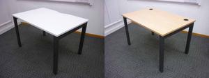 additional images for Herman Miller Abak graphite goal post leg desks