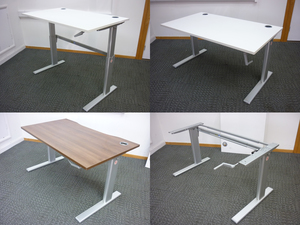 additional images for 1200-1600x800mm hand crank sit stand desks