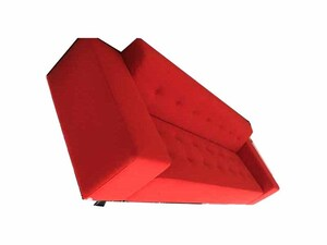 additional images for Hitch Mylius hm46 Abbey red 3 seater sofa