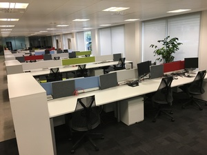 additional images for Herman Miller Sense white 1600x800mm bench desks & screens