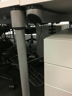 Herman Miller Sense v1 1600x800mm white bench desks
