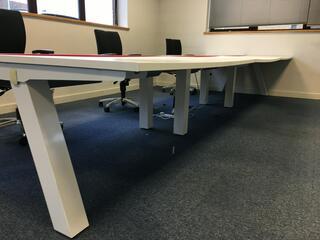 Task Unity white sliding top 1600x800mm bench desks