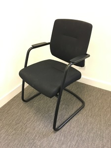 additional images for Arte black cantilever meeting chairs