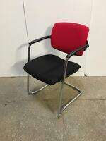 additional images for Red/black stacking meeting chairs