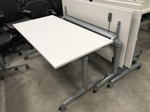 additional images for Steelcase FlipTop Twin 1600x800mm white meeting tables
