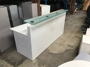 additional images for 2000mm wide white reception desk
