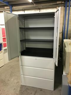 Office Speciality 2080mm high grey combi units