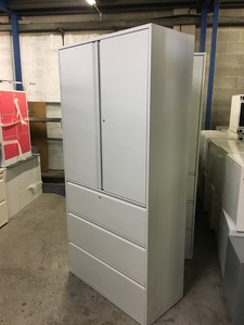 additional images for Office Speciality 2080mm high grey combi units