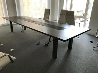 2100x1250mm dark walnut boardroom table