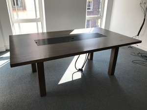 additional images for 2100x1250mm dark walnut boardroom table