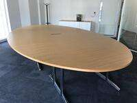 additional images for 4200x2400mm oval oak veneer table