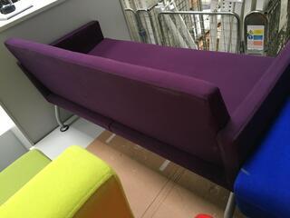 Purple 2 seater sofa