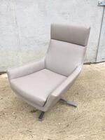 additional images for Marelli Joy mushroom leather swivel armchair