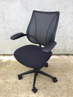 Black mesh back Humanscale Liberty task chair