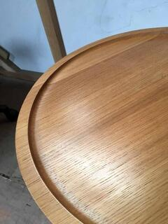 Oak tripod 440mm diameter coffee table