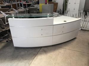 additional images for White curved reception desk
