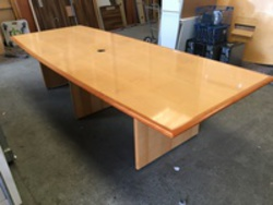 additional images for 3200 x 1250mm maple veneer barrel shape table (CE)