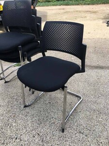 additional images for Black Torasen Kyos plastic back stacking chairs