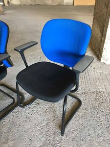 additional images for Black & blue Orangebox Joy stacking meeting chairs