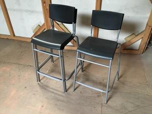 additional images for Black Ikea STIG bar stools