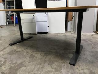 Oak veneer 1750x900mm table